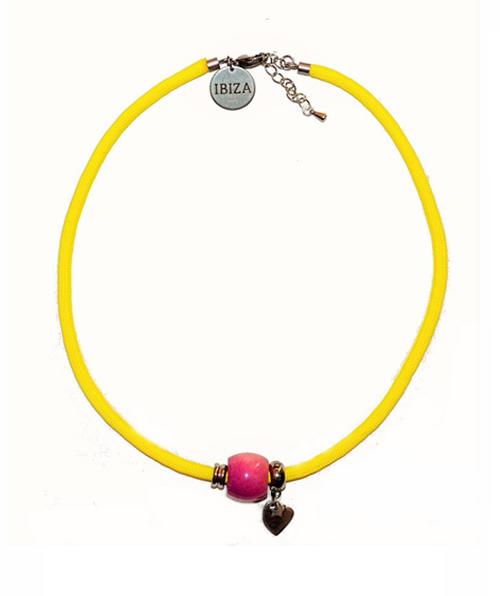 Gargantilla Summer Yellow Pink