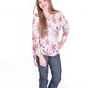 Blusa de manga larga con original estampado