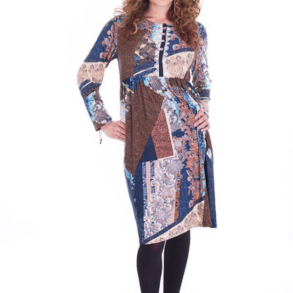 Vestido de manga larga con original estampado