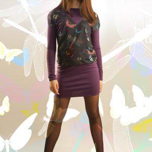 Vestido libélula color violeta