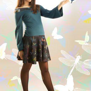 Vestido libélula turquesa