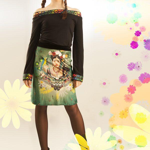 Falda verde Frida