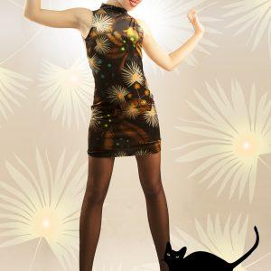 Vestido cat terciopelo