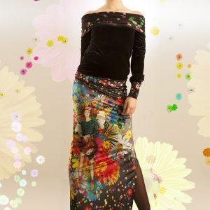 Falda larga terciopelo Frida