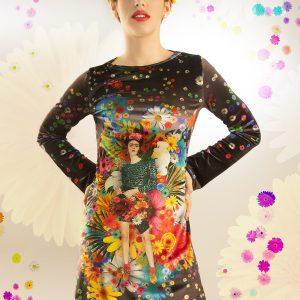 Vestido Frida Kahlo terciopelo